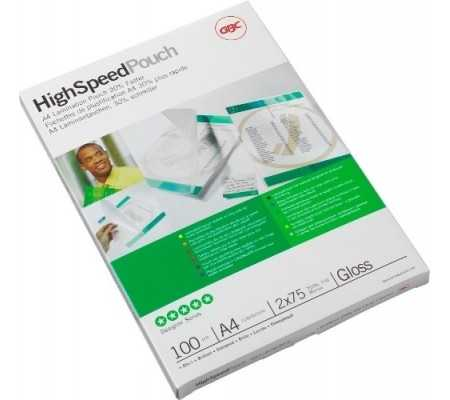 GBC HighSpeed Laminating Pouch A4 2x75 Micron