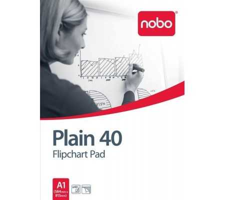 Nobo Flipchart Pad Plain 40 Sheets (A1), Planning Boards, Best Buy Cyprus, Planning Board Accessories, 34631165 #Nobo