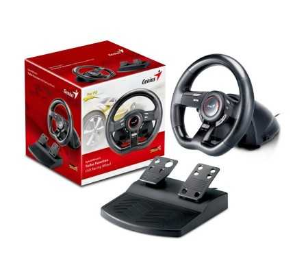 Genius Speed Wheel 5 Steering wheel + Pedals PC USB 2.0 Black, Gaming, Best Buy Cyprus, Gaming accessories, 31620018100 #Genius