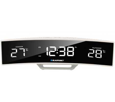 Blaupunkt CR12WH Clock radio with indoor and outdoor temperature, TV & Entertainment, Best Buy Cyprus, Home Audio, CR12WH