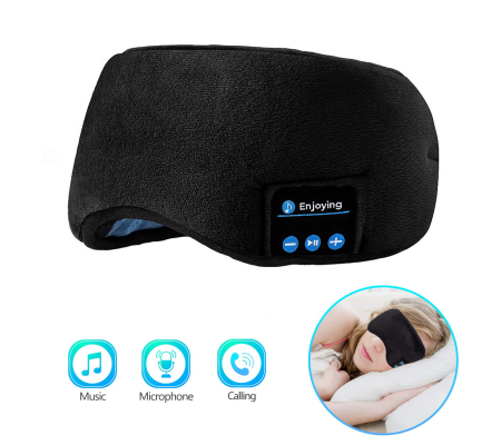 Handsfree Sleeping Mask with Built-in Speakers Microphone Washable Black, Portable Audio, Best Buy Cyprus, Wireless Speakers