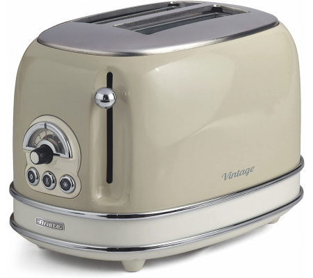Ariete Vintage 156 Retro 2 Slice Toaster Beige, Small Appliances, Best Buy Cyprus, Toasters & Toaster Ovens, 8003705114937