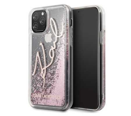 Karl Lagerfeld KLHCN58TRKSRG iPhone 11 Pro rose gold Glitter Signature, Phones & Wearables, Best Buy Cyprus, Phone Cases