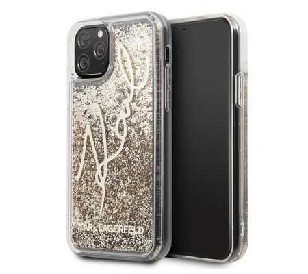 Karl Lagerfeld KLHCN58TRKSGO iPhone 11 Pro gold Glitter Signature, Phones & Wearables, Best Buy Cyprus, Phone Cases, KLD135GLD