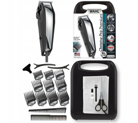 Wahl ChromePro Premium Complete Haircutting Kit 21 Pieces, Health & wellbeing, Best Buy Cyprus, Mens shavers, 79520-5316 #Wahl