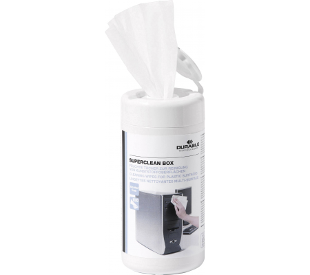 Durable Superclean Tub Moist Cleaning Wipes Pre-saturated 5708 Tub 100, Computer Accessories, Best Buy Cyprus, Cleaning & Care