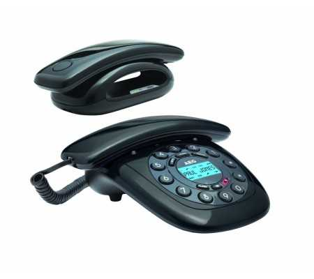 AEG Solo Combo 15 Analog/DECT Caller ID Black, IP Telephony, Best Buy Cyprus, Home Phones, 8073780023 AEG,  bestbuycyprus, best
