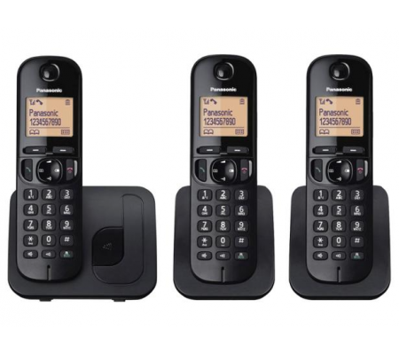 Panasonic KX-TGC213 Black Trio Dect Cordless Phone, Cables & Connectors, Best Buy Cyprus, Analog Telephony, KX-TGC213EB