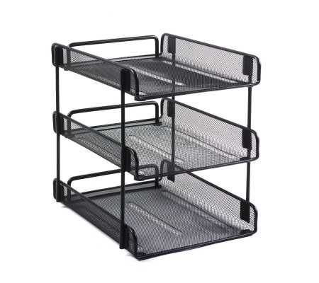 Rexel 3 Tiered Wire Letter Tray Black, Workplace & Organisation Products, Best Buy Cyprus, Letter Trays, REX-7073801 Rexel,