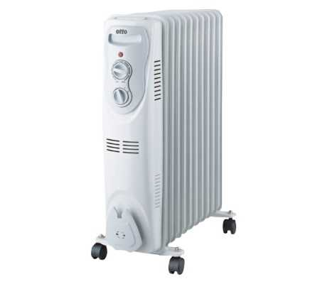 OTTO Oil Filled Radiator, Heating & Cooling, Best Buy Cyprus, Space Heaters, SH-18-11 Otto
