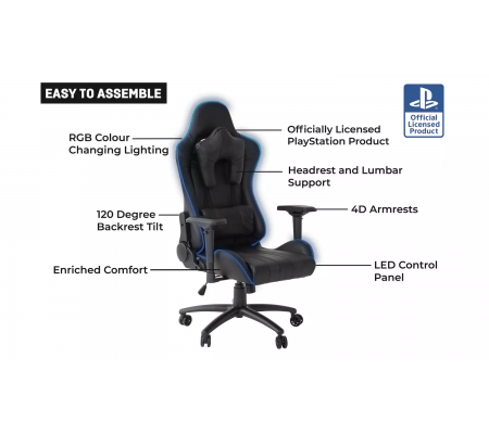 X-Rocker Amarok Official PlayStation LED Gaming Chair, Gaming, Best Buy Cyprus, Gaming Chairs, 00158442 X Rocker