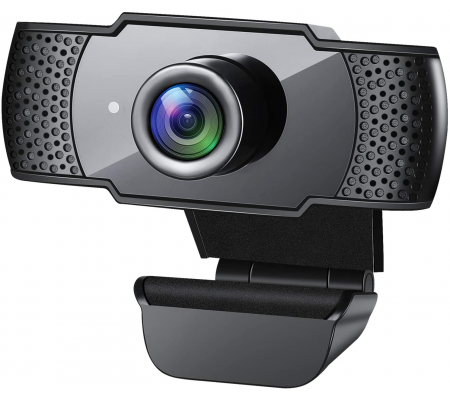 Webcam with Microphone 1080P HD for PC Video Conferencing/Calling/Gaming, Laptop/Desktop Mac, Skype/YouTube/Zoom/Facetime,