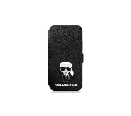 Karl Lagerfeld KLFLBKP12MIKMSBK Apple iPhone 12/12 Pro black book Saffiano Ikonik Metal, Phone Cases, Best Buy Cyprus, Apple