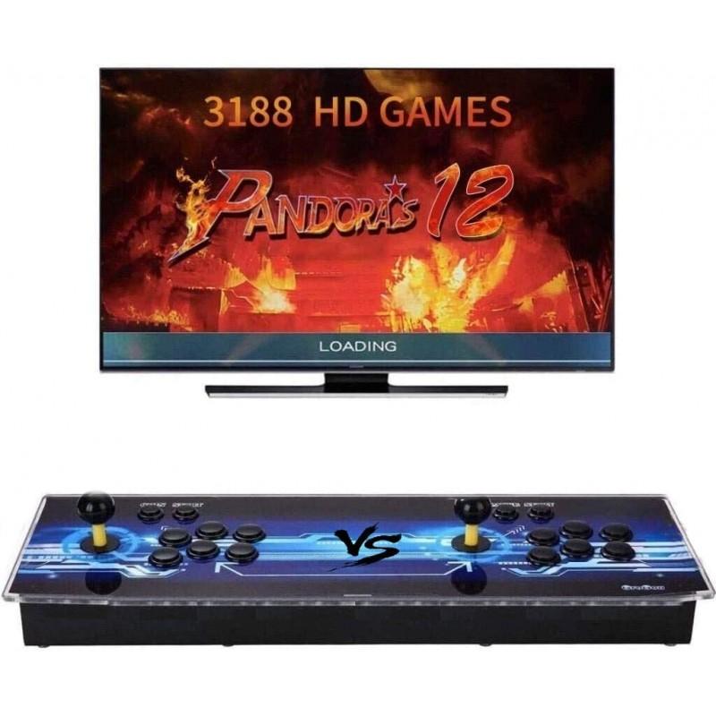 Pandora's Box 12 Two Players Joystick Arcade Console with 3188 Retro Games Double Arcade Joystick Built-in Speaker