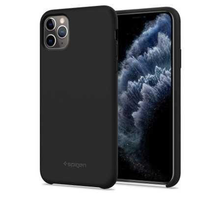 Spigen Silicone Fit Apple iPhone 11 Pro Max Black