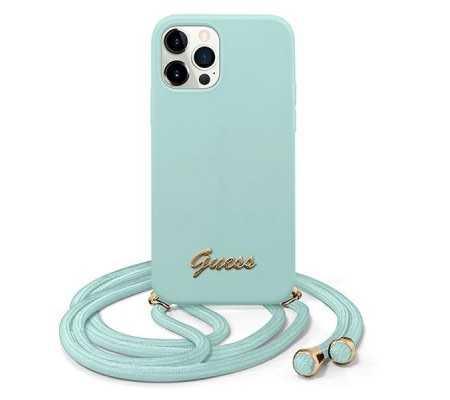 Guess GUHCP12MLSCLMGLB Apple iPhone 12/12 Pro light blue hardcase Metal Logo Cord, Phone Cases, Best Buy Cyprus, Apple Cases