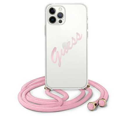 Guess GUHCP12MCRTVSPI Apple iPhone 12/12 Pro pink hardcase Script Vintage, Phone Cases, Best Buy Cyprus, Apple Cases