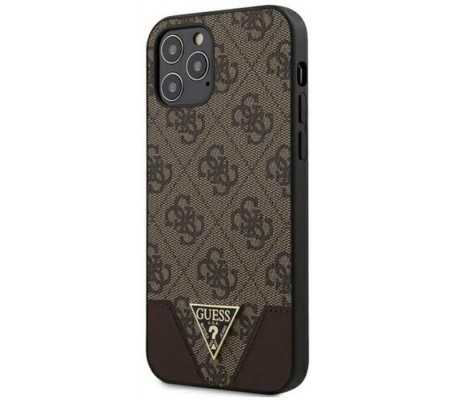 Guess GUHCP12MPU4GHBR Apple iPhone 12/12 Pro brown hardcase 4G Triangle Collection