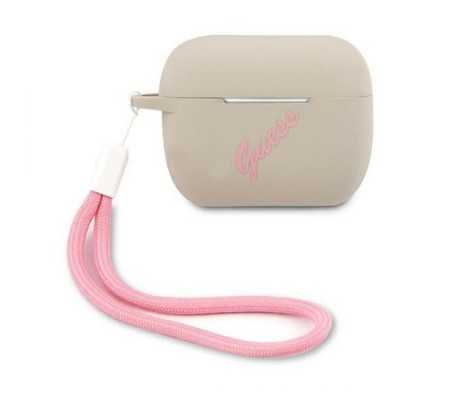 Guess GUACAPLSVSGP Apple AirPods Pro cover grey pink Silicone Vintage, Phone Cases, Best Buy Cyprus, Apple Cases, 3700740495506