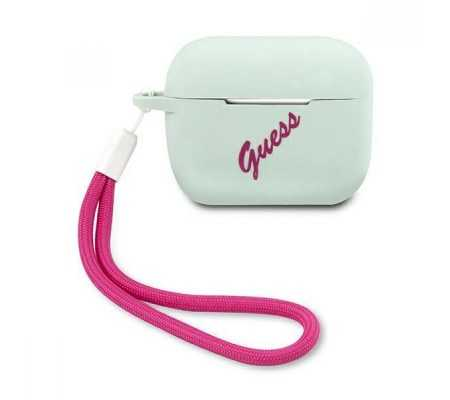 Guess GUACAPLSVSBF Apple AirPods Pro cover blue fuschia Silicone Vintage