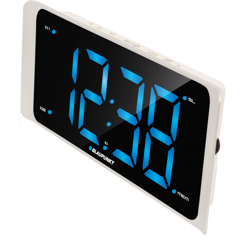 Blaupunkt CR16WH Radio Alarm Clock With Usb Charging