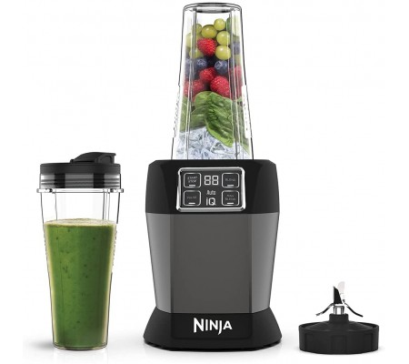 Ninja Personal Blender With Auto-IQ BN495EU,  #bestbuycyprus, Blend in the cup, enjoy on-the-go. Easily create delicious
