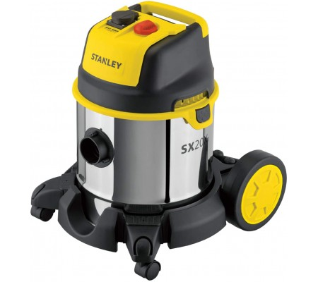 Stanley® 20l Stainless Steel Wet And Dry Vacuum Cleaner With Power Tool Connectivity
