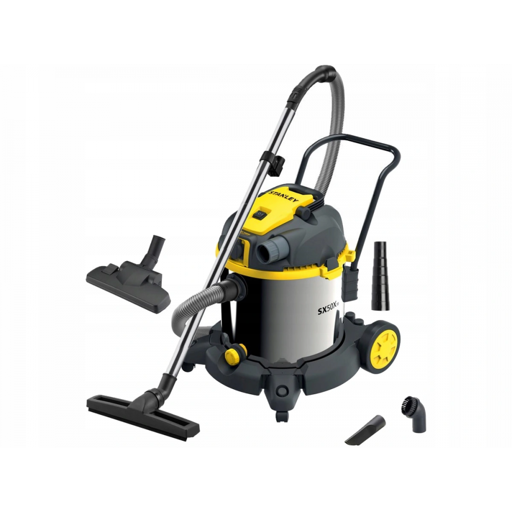 Stanley® 50l Stainless Steel Wet And Dry Vacuum Cleaner With Power Tool Connectivity