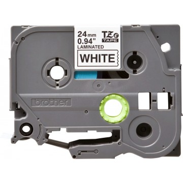 Brother TZe251 Laminated Tape for P-Touch Labelers Black on White