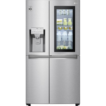 LG GSX961NSCZ side-by-side refrigerator Freestanding 668L F Stainless steel