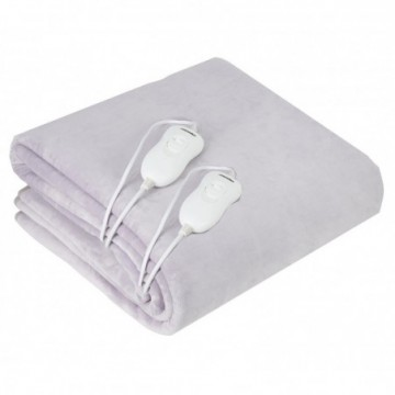 Adler AD7426 Double Electric Heating Blanket 120W with Coral Fleece, #bestbuycyprus