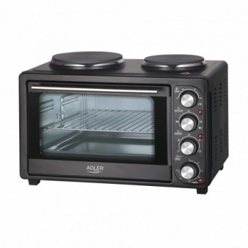 Adler AD6020 Electric Oven with 2 Hobs 2500W