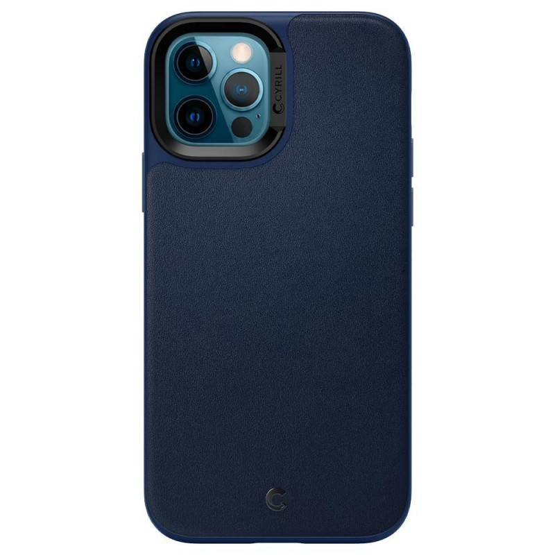 Spigen Ciel Leather Brick Apple iPhone 12/12 Pro Navy,  #bestbuycyprus, Dual protection with luxurious synthetic leather finish