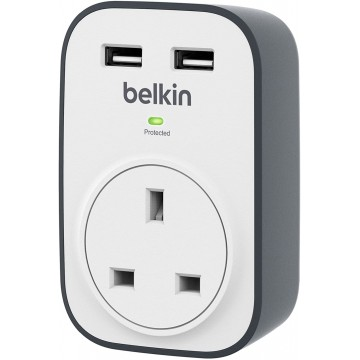 Belkin SurgeCube One Outlet Surge Protector - White, #bestbuycyprus
