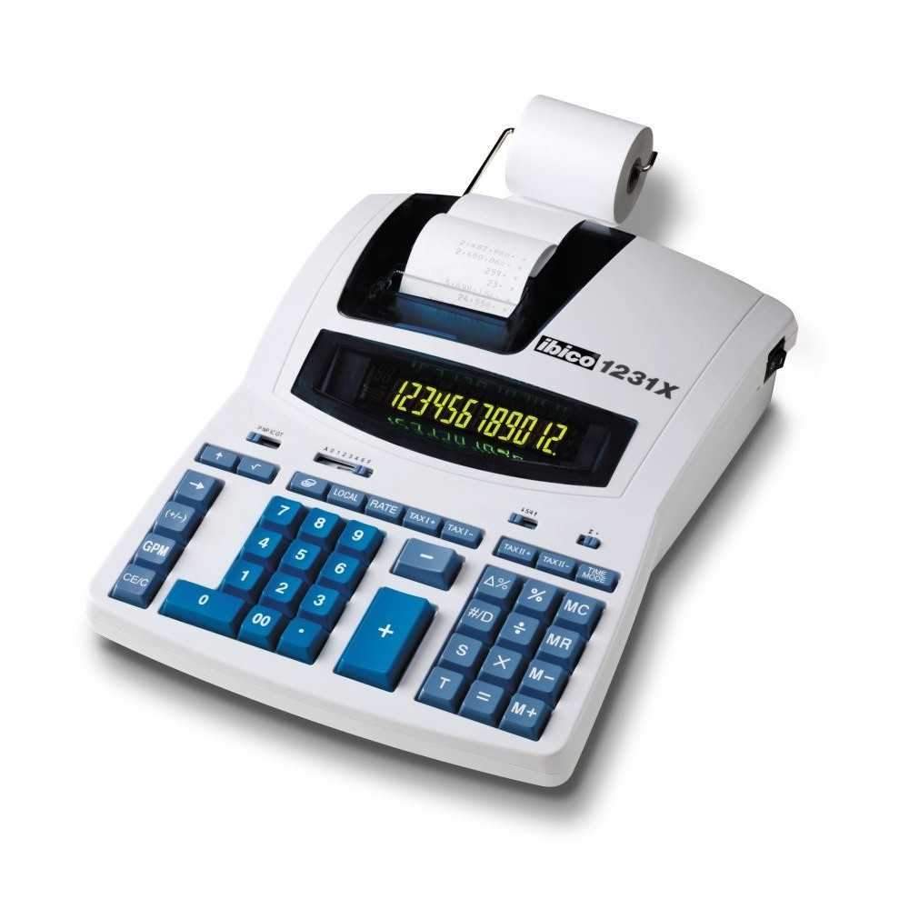 Rexel Ibico 1231X Professional Print Calculator White/Blue, Best Buy Cyprus, Calculators