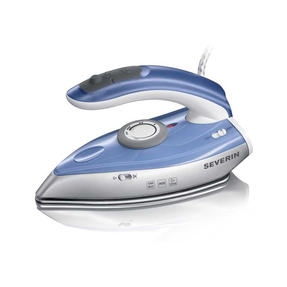 Best Buy Cyprus Severin BA 3234 Dry & Steam iron Stainless Steel soleplate 1000W Blue,Silver iron