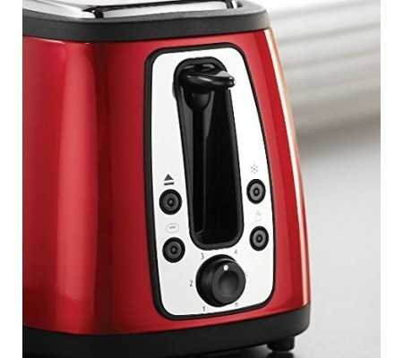 Russell Hobbs Cottage 2 slice 980W Black,Red toaster, Best Buy Cyprus, Toasters