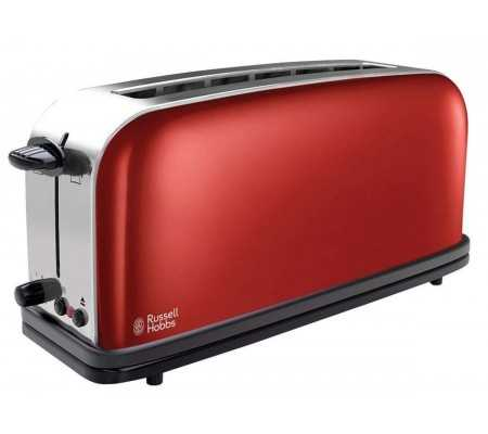 Russell Hobbs Colours Flame Red 21391-56 Long Slot Toaster, Small Appliances, Best Buy Cyprus, Toasters & Toaster Ovens