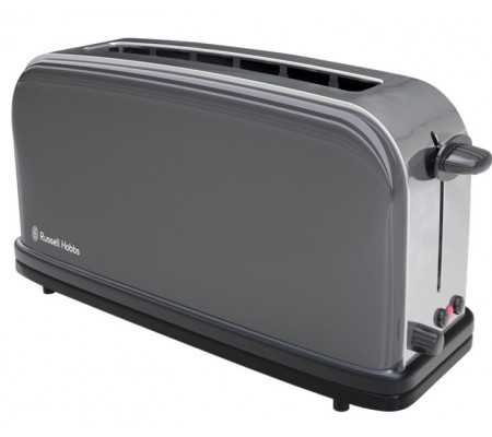 Russell Hobbs 21392-56 Storm Grey Long Slot Toaster