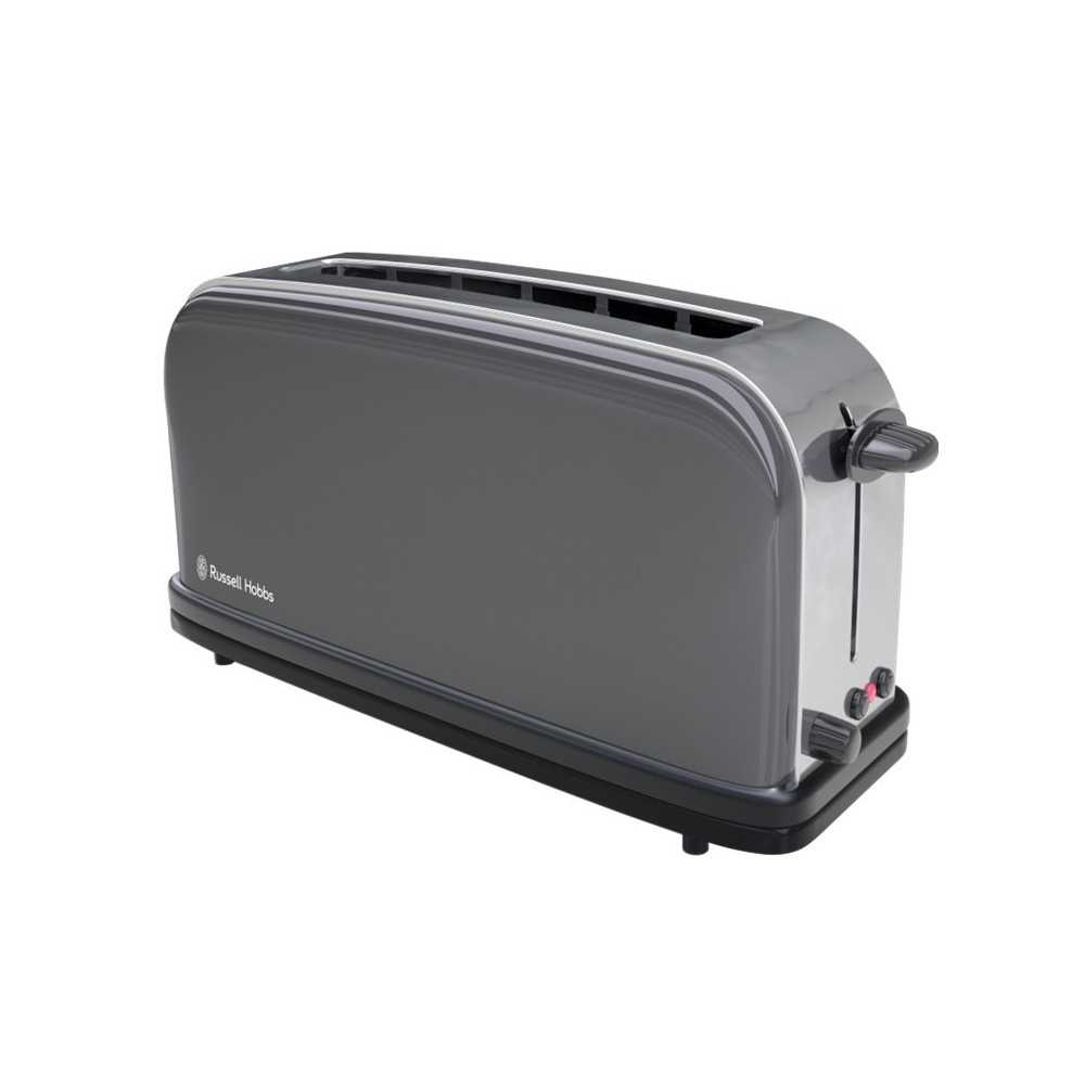 Russell Hobbs 21392-56 Storm Grey Long Slot Toaster, Small Appliances, Best Buy Cyprus, Toasters & Toaster Ovens, 21392-56
