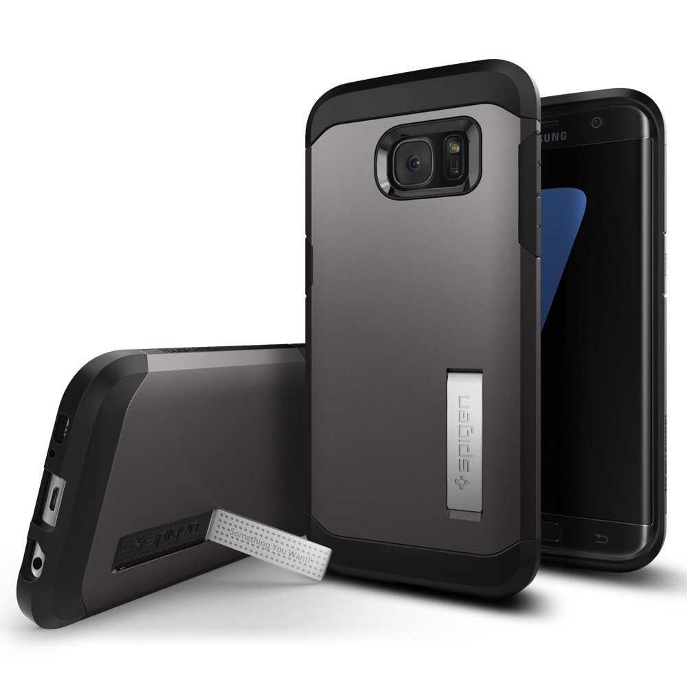 Spigen Galaxy S7 Edge Case Tough Armor Gunmetal