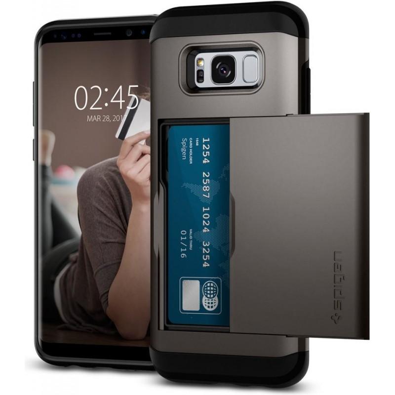 super popular 37fe3 dee5c Spigen Galaxy S8 Case Slim Armor CS Gunmetal