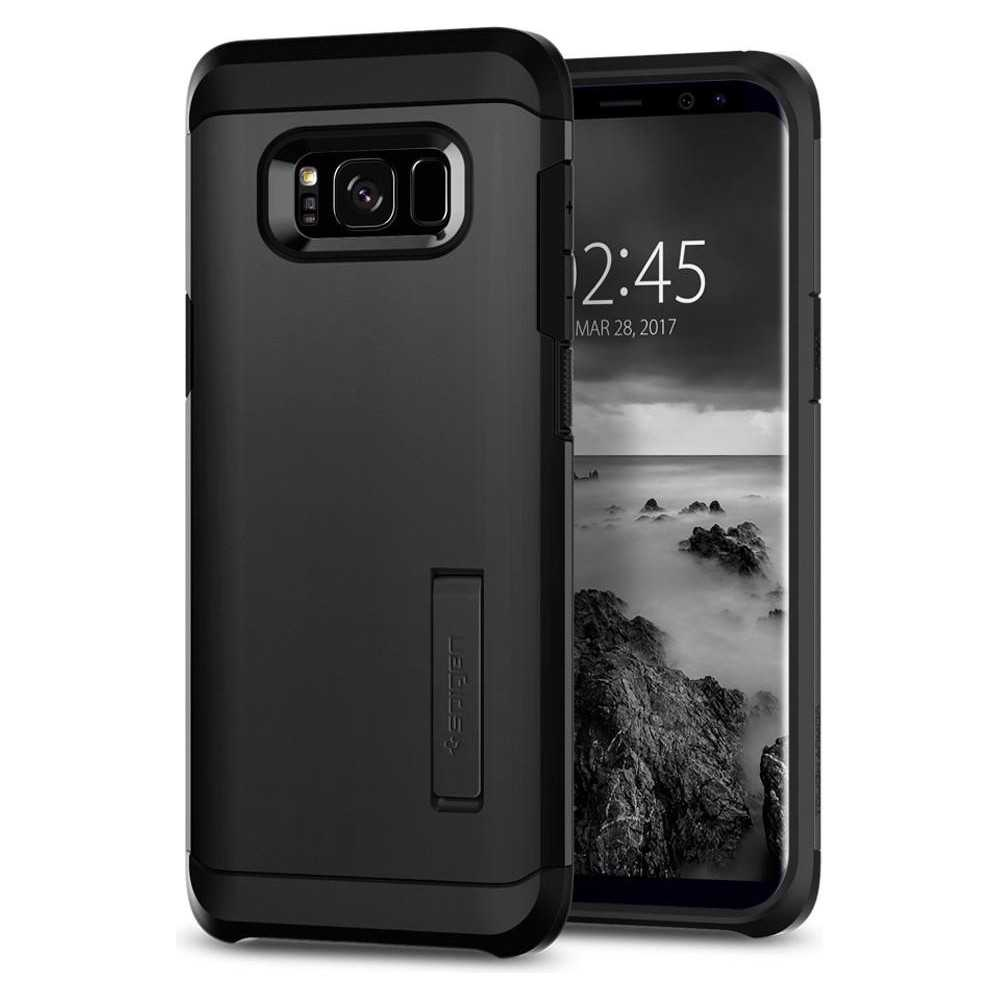 best cheap 4dbca 4e576 Spigen Galaxy S8 Plus Case Tough Armor Black
