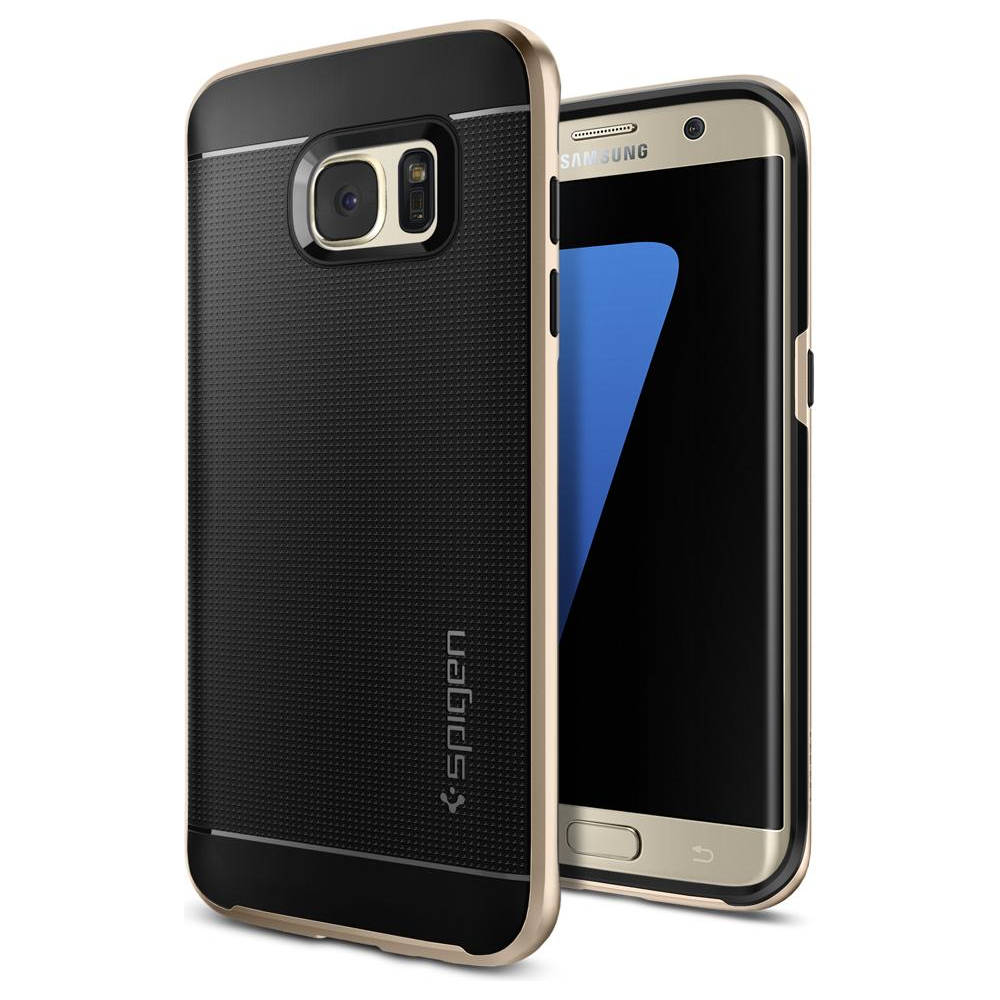 new styles 7e7be a82e6 Buy Spigen Galaxy S7 Edge Case Neo Hybrid Champagne Gold Online at Best Buy  Cyprus