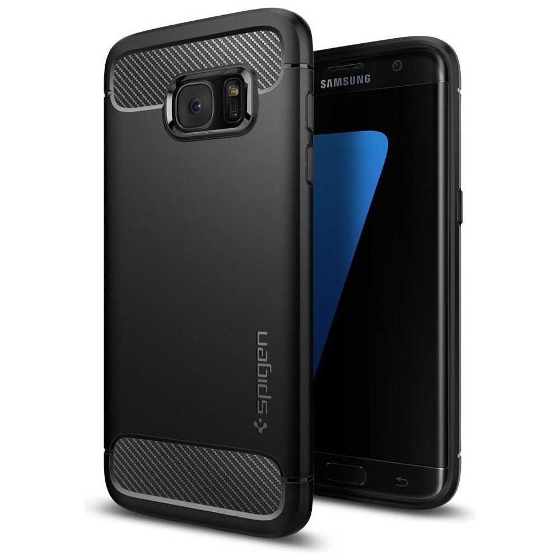 Spigen Galaxy S7 Edge Case Rugged Armor Black