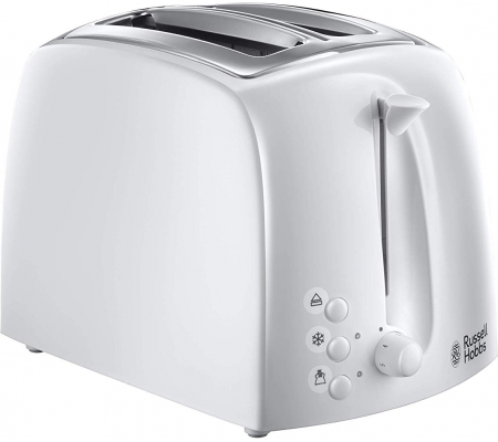 Russell Hobbs Textures 2 Slice Toaster 21640 - White, Small Appliances, Best Buy Cyprus, Toasters & Toaster Ovens, 21640-56
