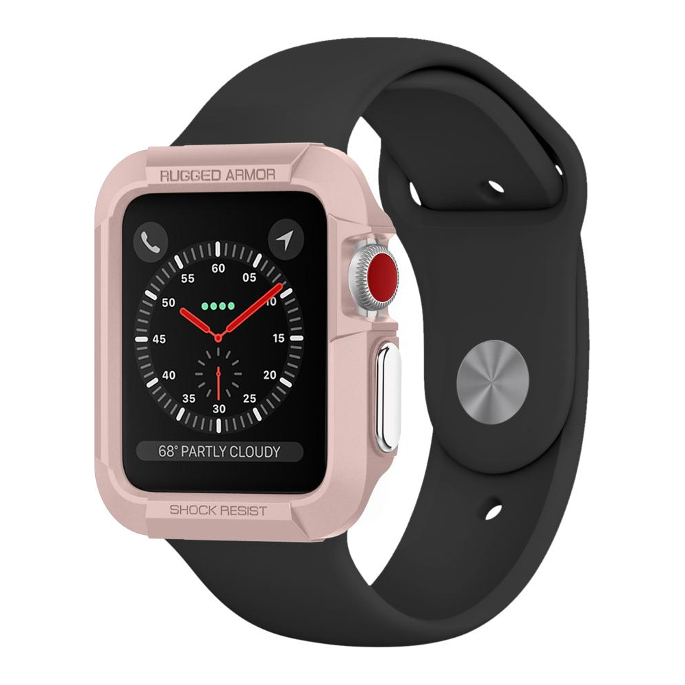huge discount a58b4 dad7c Spigen Apple Watch Series 3/2/1 (38mm) Case Rugged Armor