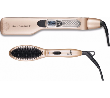 Saint Algue Pack Demeliss Mini Pro steam straightener + smoothing heating brush, Health & wellbeing, Best Buy Cyprus, Hair